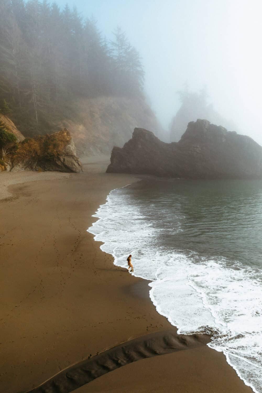 Playa secreta en el corredor escénico Samuel H Boardman